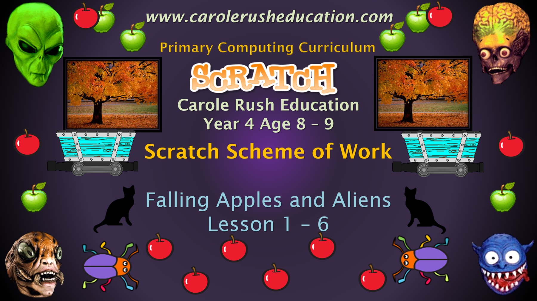 SoW Year 4 Age 8-9 Falling Apples and Aliens | Carole Rush Education